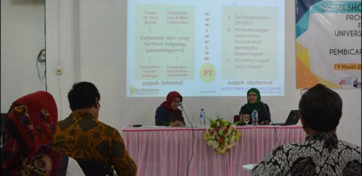 WORKSHOP EVALUASI  KURIKULUM 2018 Program Studi Agribisnis.