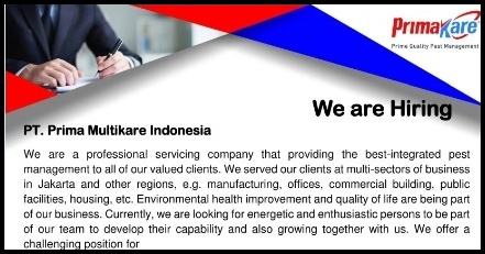 "OPEN RECRUITMENT ""PT Prima Multikare Indonesia"""